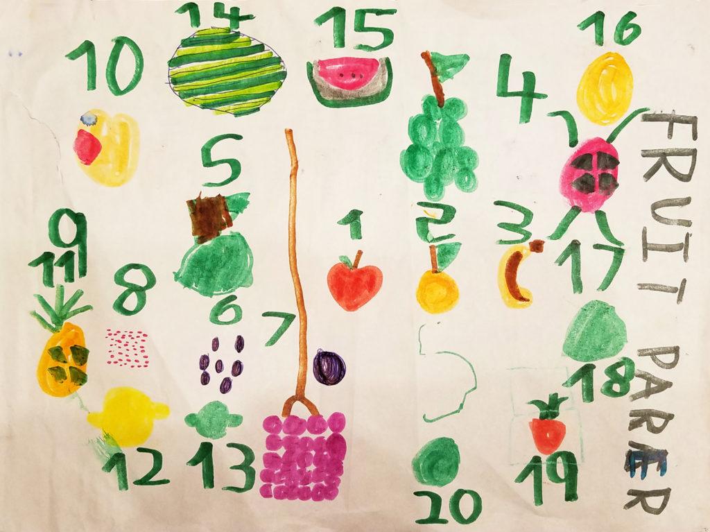 Kindergarten boy's drawing.