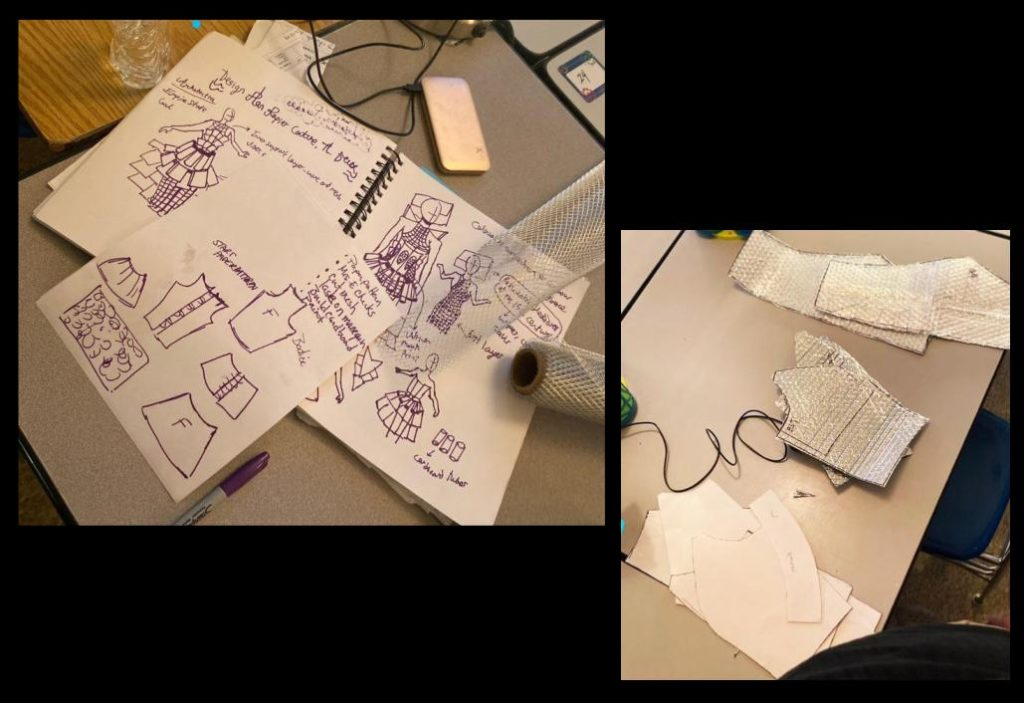 High school student's plan in sketching and experimenting