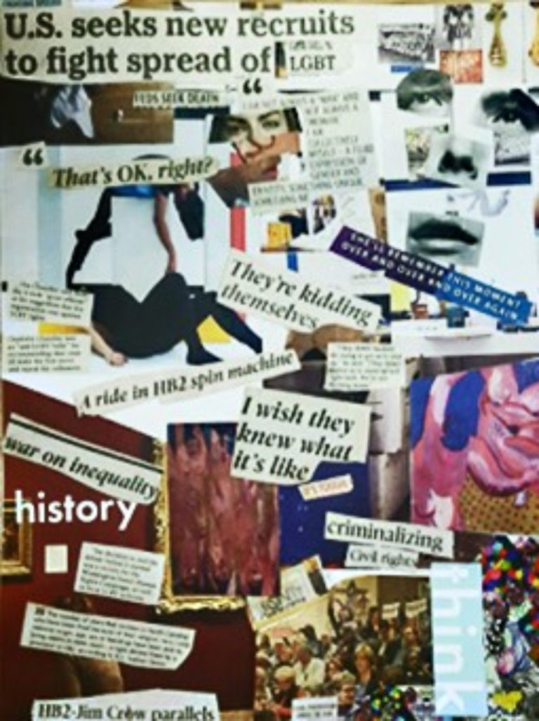 High school student's collage