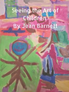 Child's painting of a person.