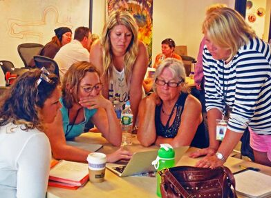 Teachers collaborating